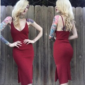 Nasty gal Knit Your Average Girl midi Dress